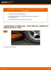 Hvordan man udfører udskiftning af: Styrekugle på 1.9 TDI Seat Ibiza 6l1