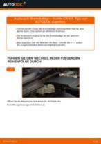 Hinweise des Automechanikers zum Wechseln von HONDA Honda CR-V II 2.2 CTDi (RD9) Domlager