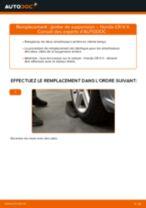 Quand changer Roulement Boîtier Du Roulement Des Roues HONDA CR-V II (RD_) : manuel pdf