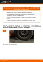 Montage Joint de rotule de direction MERCEDES-BENZ M-CLASS (W163) - tutoriel pas à pas
