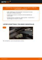 Udskift bremseklodser for - Honda CR-V II   Brugeranvisning
