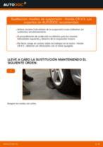 Cómo cambiar: muelles de suspensión de la parte trasera - Honda CR-V II | Guía de sustitución