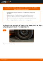 Cambio Rótula barra de dirección MERCEDES-BENZ bricolaje - manual pdf en línea