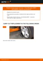 Replacing Outer tie rod end FORD MONDEO: free pdf