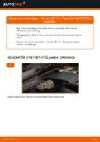 Byta bromsbelägg fram på Honda CR-V II – utbytesguide