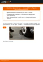 Slik bytter du fjærende ben bak på en Honda CR-V II – veiledning