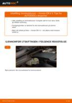 Slik bytter du bremseklosser fremme på en Honda CR-V II – veiledning