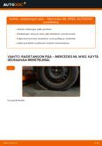 MERCEDES-BENZ M-CLASS Raidetangon Pää vaihto: ilmainen pdf