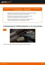 Jak zmienić Komplet klocków hamulcowych HONDA CR-V: darmowy pdf