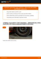 MERCEDES-BENZ Čap riadenia vymeniť vlastnými rukami - online návody pdf