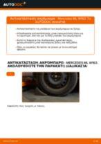 Οι συστάσεις του μηχανικού αυτοκινήτου για την αντικατάσταση MERCEDES-BENZ ML W163 ML 320 3.2 (163.154) Φίλτρο αέρα