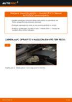 Kako zamenjati avtodel zavorne ploščice spredaj na avtu Honda CR-V II – vodnik menjave
