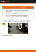Como mudar e ajustar Bujão de óleo HONDA CR-V: tutorial pdf