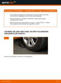 Wie der Wechsel durchführt wird: Domlager 2.0 (RD4) Honda CR-V II tauschen