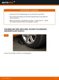 Wie der Wechsel durchführt wird: Koppelstange 2.0 (RD4) Honda CR-V II tauschen