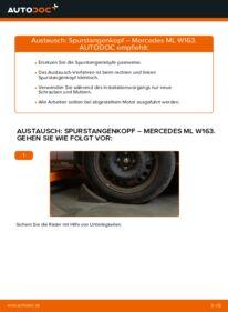 Wie der Wechsel durchführt wird: Spurstangenkopf ML 270 CDI 2.7 (163.113) Mercedes W163 tauschen