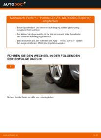 Wie der Wechsel durchführt wird: Federn 2.0 (RD4) Honda CR-V II tauschen