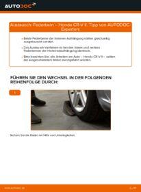 Wie der Wechsel durchführt wird: Stoßdämpfer 2.0 (RD4) Honda CR-V II tauschen