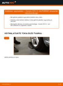 Kaip atlikti keitimą: 2.0 (RD4) Honda CR-V II Spyruoklės
