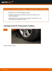 Kaip atlikti keitimą: 2.0 (RD4) Honda CR-V II Skersinės vairo trauklės galas