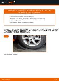 Kaip atlikti keitimą: 2.2 dCi 4x4 Nissan X Trail t30 Skersinės vairo trauklės galas