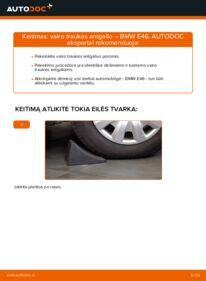 Kaip atlikti keitimą: 320d 2.0 BMW E46 Skersinės vairo trauklės galas
