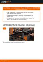Hvordan skifter man og justere Bremseklods AUDI A6: pdf manual