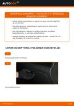 Udskift pollenfilter - Honda CR-V II   Brugeranvisning