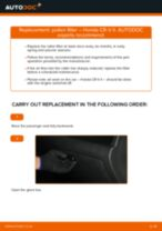 How to change pollen filter on Honda CR-V II – replacement guide
