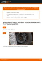 How to change track rod end on Toyota Yaris P1 – replacement guide