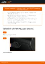 Byta kupéfilter på Honda CR-V II – utbytesguide