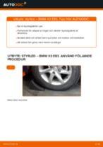 Byta Styrled yttre BMW X3: gratis pdf