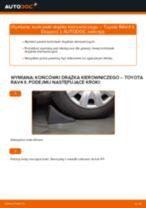 Jak wymienić Końcówka drążka kierowniczego poprzecznego TOYOTA RAV 4 II (CLA2_, XA2_, ZCA2_, ACA2_) - instrukcje online