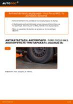 Πώς να αλλάξετε ακρόμπαρο σε Ford Focus MK2 - Οδηγίες αντικατάστασης