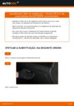 Tutorial passo a passo em PDF sobre a substituição de Filtro do Habitáculo no HONDA CR-V II (RD_)