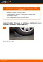 Como mudar terminal de direção em Mercedes W169 - guia de substituição