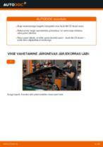 Lisakomplekt, Ketaspidurikate vahetus: pdf juhend AUDI A6