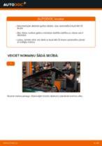 Kā nomainīt un noregulēt Riteņa rumbas gultnis AUDI A6: pdf ceļvedis