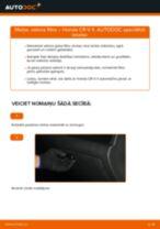 Kā nomainīt: salona gaisa filtru Honda CR-V II - nomaiņas ceļvedis
