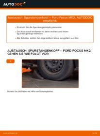 Wie der Wechsel durchführt wird: Spurstangenkopf 1.6 TDCi Ford Focus mk2 Limousine tauschen