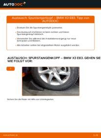 Wie der Wechsel durchführt wird: Spurstangenkopf 2.0 d BMW X3 E83 tauschen
