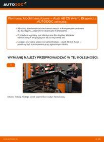 Jak przeprowadzić wymianę: Klocki Hamulcowe w AUDI A6