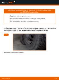 Ako vykonať výmenu: Hlava / čap spojovacej tyče riadenia na 1.0 i 12V (F08, F68, M68) Opel Corsa S93