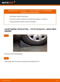 Kuidas välja vahetamist läbi viia: 2.0 D 4WD (CLA20_, CLA21_) Toyota Rav4 II Roolivardapea