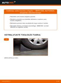 Kaip atlikti keitimą: 320d 2.0 BMW E90 Skersinės vairo trauklės galas