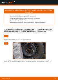 Wie der Wechsel durchführt wird: Spurstangenkopf 1.0 (SCP10_) Toyota Yaris p1 tauschen