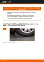 Cómo cambiar y ajustar Rótula barra de acoplamiento BMW X5: tutorial pdf