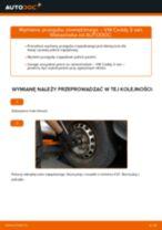 Zalecenia mechanika samochodowego dotyczącego tego, jak wymienić VW VW Caddy 3 Van 1.6 TDI Tarcza hamulcowa