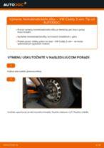 Výmena Axiálny Čap Tiahla Riadenia VW CADDY: dielenská príručka