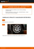 Kako zamenjati avtodel sprednja spodnja roka na avtu Audi A6 C5 Avant – vodnik menjave